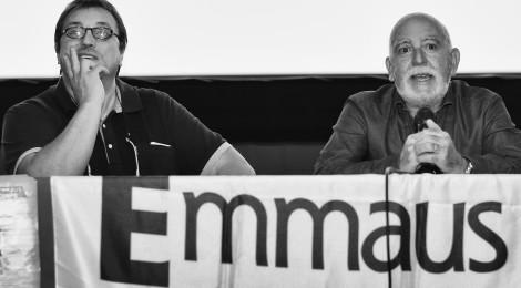 Vittorio Teresi a Cuneo per festeggiare i primi 25 anni di vita di Emmaus Boves