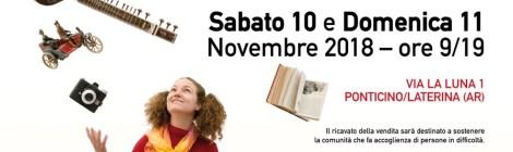 Emmaus Laterina: sabato 10 e domenica 11 novembre avrà luogo la tradizionale vendita straordinaria di solidarietà!